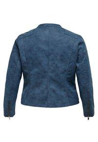 ONLY Carmakoma - CARAVANA  - Faux leather jacket - dark denim - 5