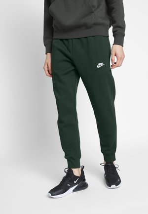 CLUB - Tracksuit bottoms - sequoia/sequoia/white