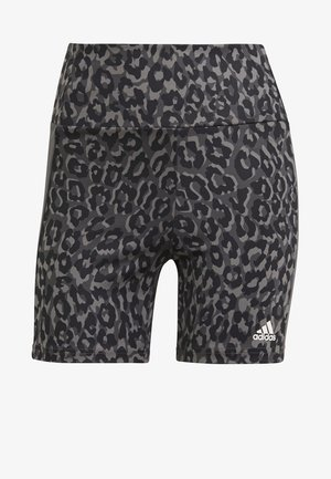 ADIDAS DESIGNED TO MOVE AEROREADY LEOPARD PRINT SHORT TIGHTS - Leggings - grefou/gresix