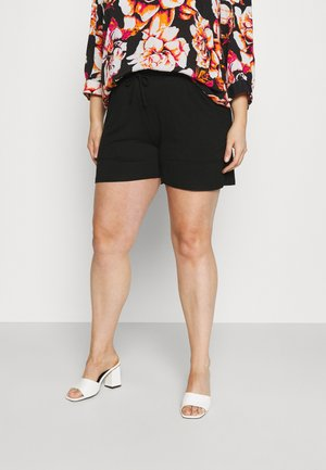 PCNEORA FRILL CURVE - Shorts - black