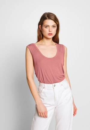 THE PARKER DEEP SCOOP TANK - Top - canyon rose