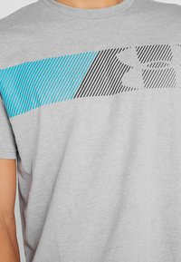 Under Armour - FAST LEFT CHEST 2.0  - Print T-shirt - steel light heather - 5