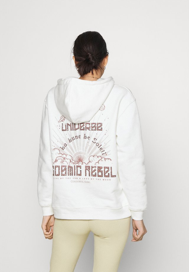 COSMIC REBEL OVERSIZED HOODIE UNISEX - Felpa con cappuccio - white