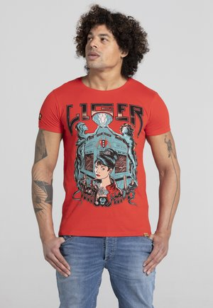 LIMITED TO 360 PIECES - ERYC WHY - AMSTERDAM - T-shirt print - red