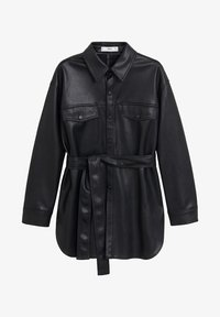 Mango - ANAIS - Faux leather jacket - schwarz - 3