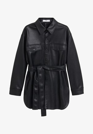 ANAIS - Faux leather jacket - schwarz