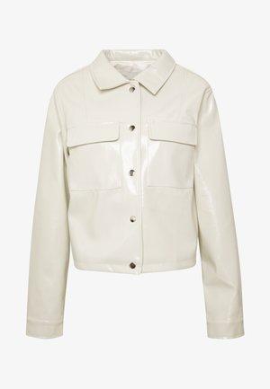 CROPPED DETAILED JACKET - Faux leather jacket - off-white