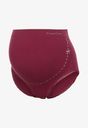 BRIEF - Pants - cassis