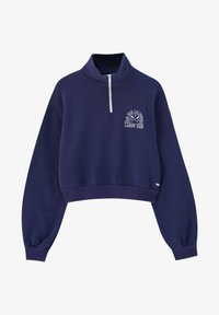 PULL&BEAR - Sweatshirt - mottled dark blue - 4