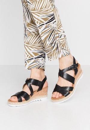 Platform sandals - schwarz