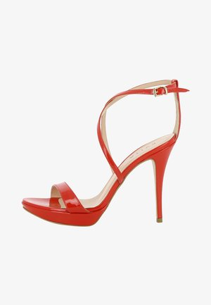 VALERIA - High heeled sandals - red