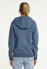 Schmuddelwedda - SWEATJACKE - Zip-up sweatshirt - marine melange - 2