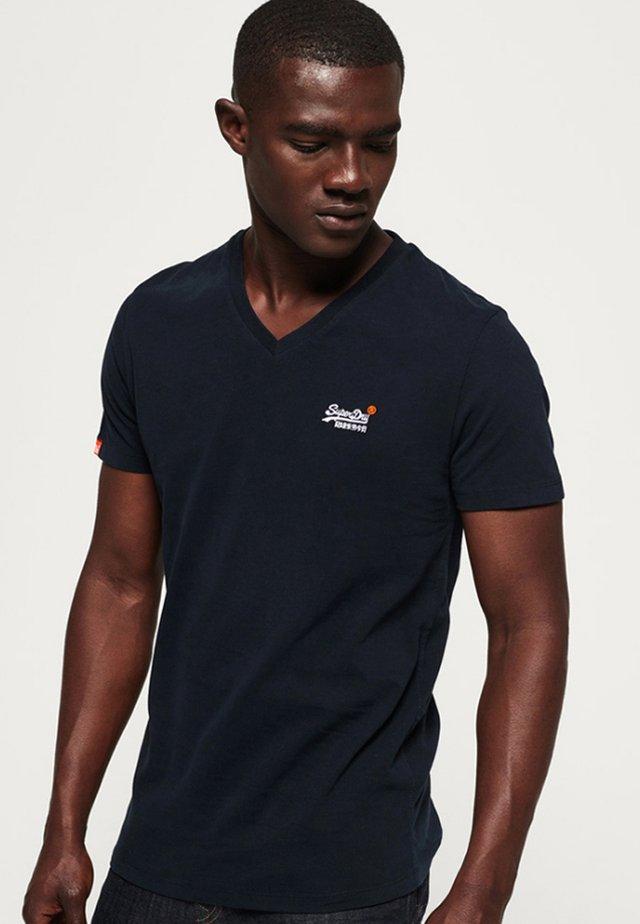 VINTAGE  - T-shirt basic - dunkel marineblau