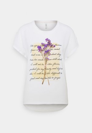 ONLWENDY - Print T-shirt - cloud dancer
