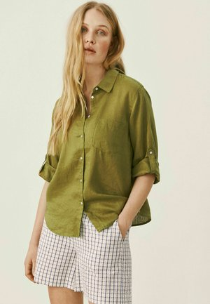Button-down blouse - olive drab