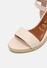 Tamaris - Wedge sandals - cream - 7