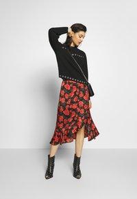 The Kooples - SKIRT - A-line skirt - black - red - 1