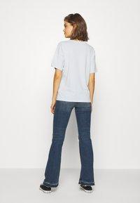 American Eagle - NEW YORK DINER OVERSIZED TEE - Print T-shirt - blue - 2