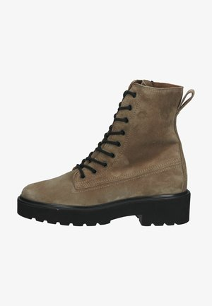 Lace-up ankle boots - hellbraun