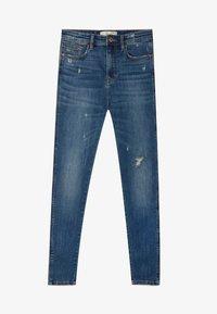 Stradivarius - MIT HOHEM BUND - Jeans Skinny Fit - blue - 4