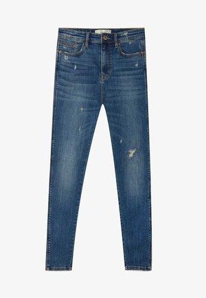 MIT HOHEM BUND - Jeans Skinny - blue