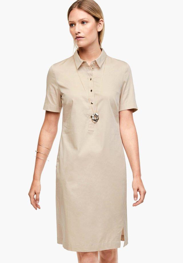 Shirt dress - pale sand