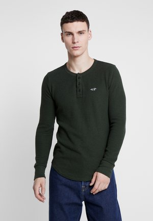 WAFFLE HENLEY  - Long sleeved top - olive