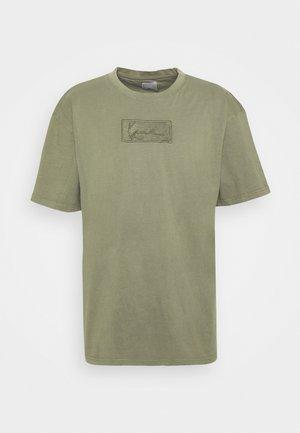SMALL SIGNATURE BOX WASHED TEE UNISEX - Basic T-shirt - green