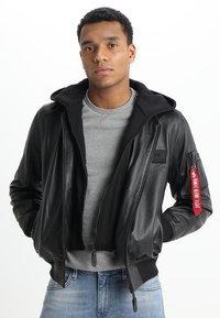 Alpha Industries - Leather jacket - black - 0