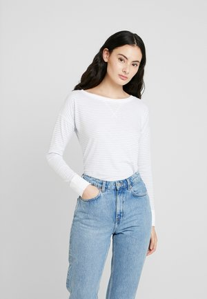 Long sleeved top - blue/white