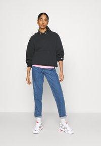 Nike Sportswear - HOODIE - Sweatshirt - black/white - 1
