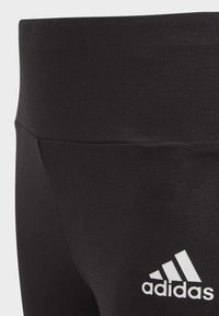 adidas Performance - 3-STRIPES COTTON LEGGINGS - Legginsy - black - 2