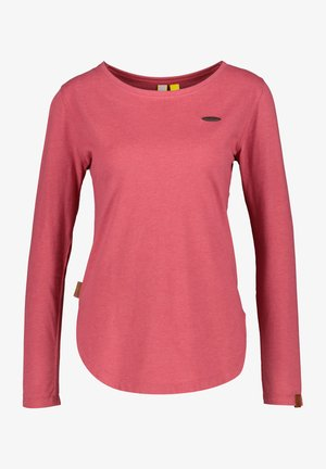 Long sleeved top - cranberry