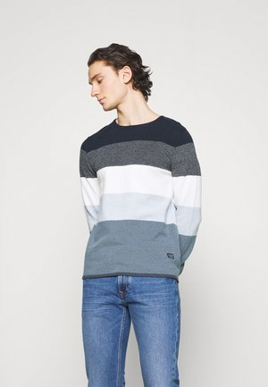 JJLINCOLN CREW NECK - Neule - ombre blue