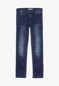 Name it - NKMTHEO PANT - Straight leg jeans - dark blue denim - 3