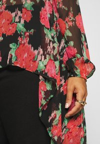 Simply Be - BLURRED FLORAL MAXI SHIRT - Skjorte - black - 5