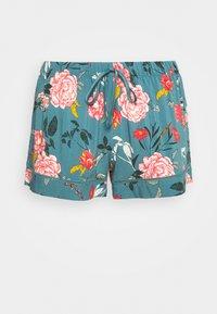 Hunkemöller - SHORT FLOWER - Pyjamasbukse - stormy sea - 4