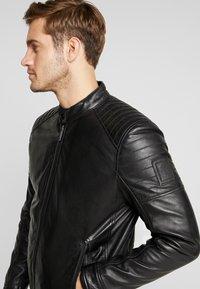 Strellson - DERRY - Leather jacket - black - 3