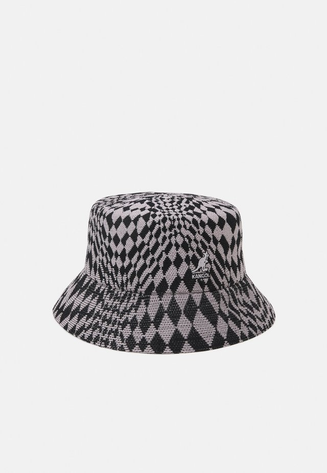 WRAPPED CHECK BUCKET - Hoed - black/ grey