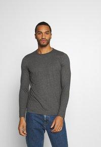 Burton Menswear London - LONG SLEEVE CREW 2 PACK  - Maglietta a manica lunga - charcoal - 3