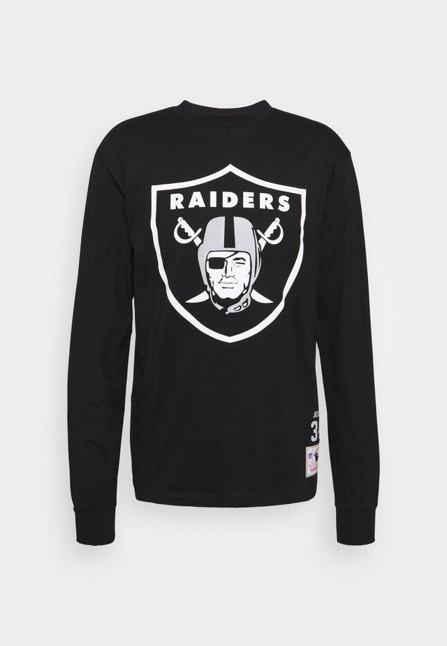 NFL LOS ANGELES RAIDERS TEE - Vereinsmannschaften - black