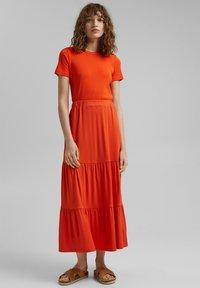 Esprit - A-line skirt - orange red - 1