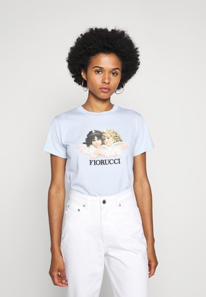VINTAGE ANGELS TEE - Print T-shirt - pale blue