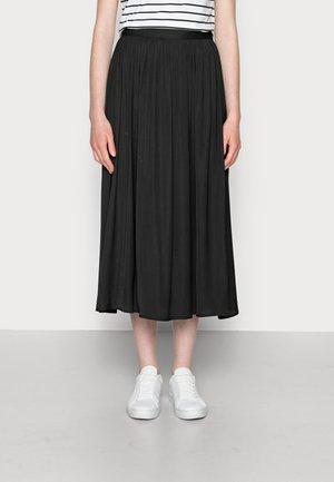PAMELA - Áčková sukně - black