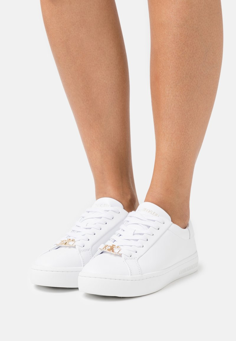 Calvin Klein Jeans - CUPSOLE LACEUP  - Sneakers laag - bright white
