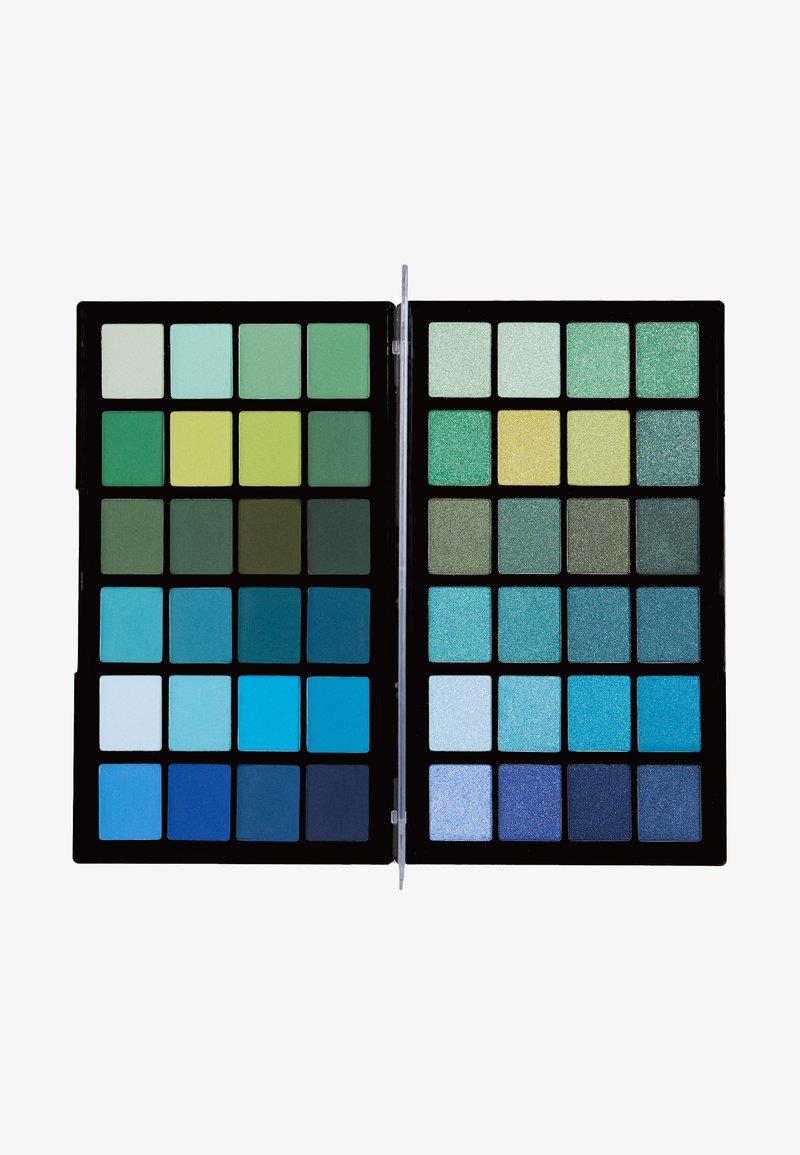 Make up Revolution - COLOUR BOOK EYESHADOW PALETTE - Palette fard à paupière - greens & blues