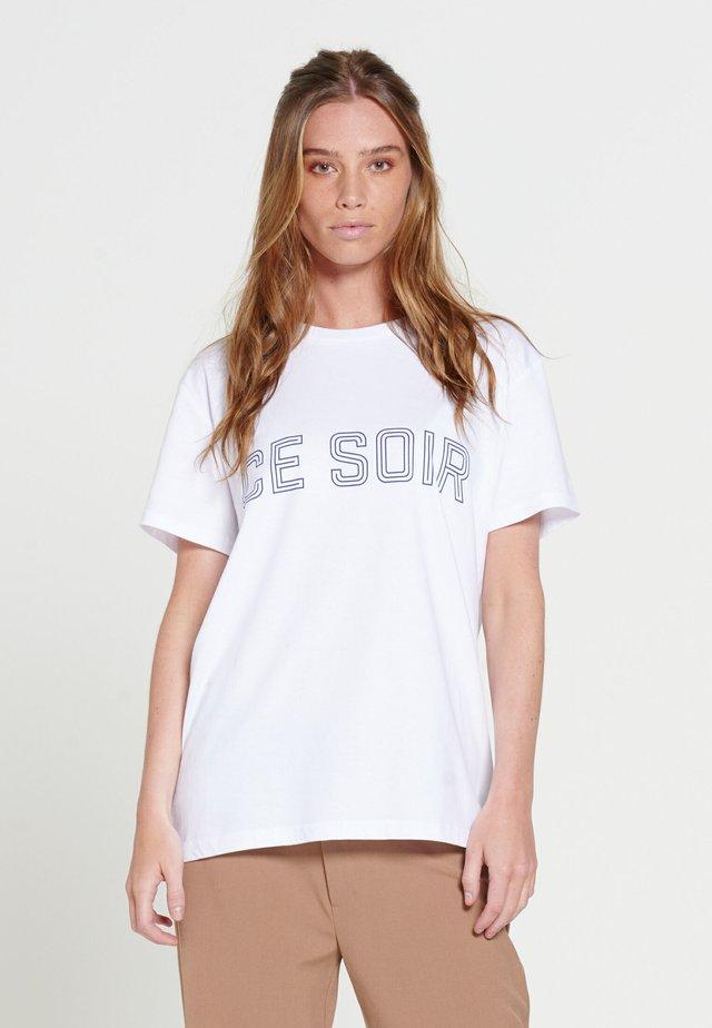 CE SOIR - T-shirt print - white