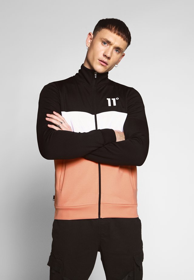 PANEL BLOCK  - Training jacket - peach melba/black/white