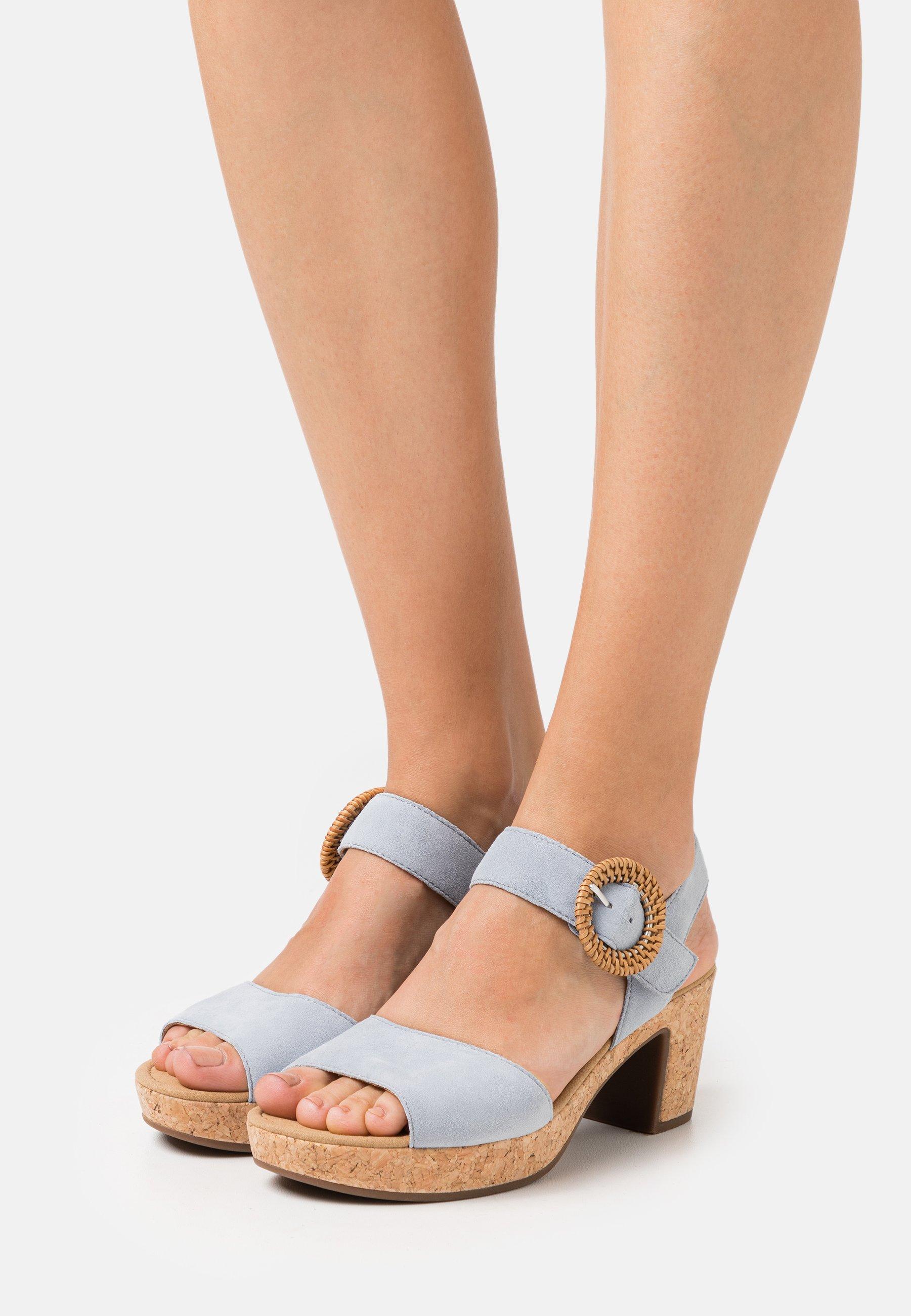 Women Platform sandals - aquamarin