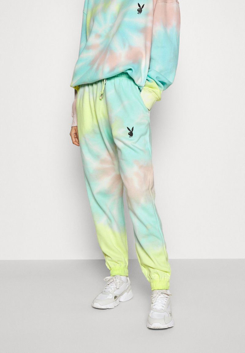 Missguided - PLAYBOY TIE DYE JOGGER - Tracksuit bottoms - multi